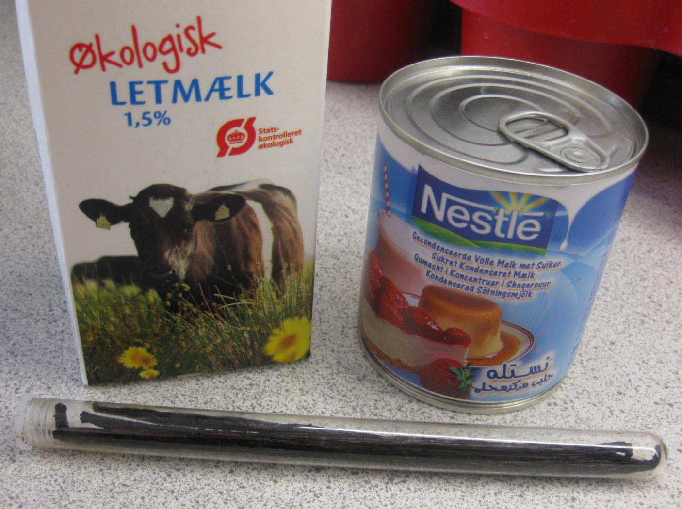 kondenseret mælk kalorier
