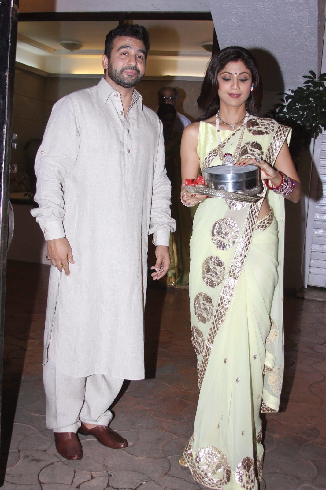 Shilpa Shetty and Sridevi celebrate Karwa Chauth Festival