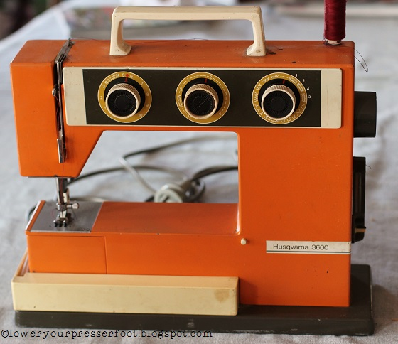 Lower Your Presser Foot The Orangest Sewing Machine You'll Ever See Interesting Viking Mechanical Sewing Machine