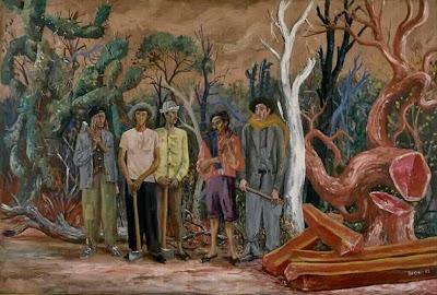 'Los hacheros' (1953), óleo del Maestro don Antonio Berni, tomado de trianarts.com