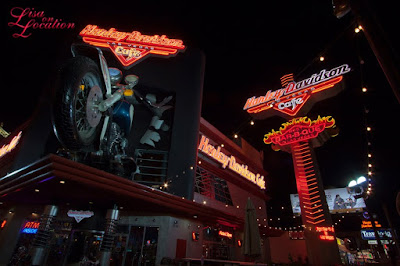 Las Vegas Nevada, Harley Davidson Cafe at night, Las Vegas Strip, New Braunfels photographer