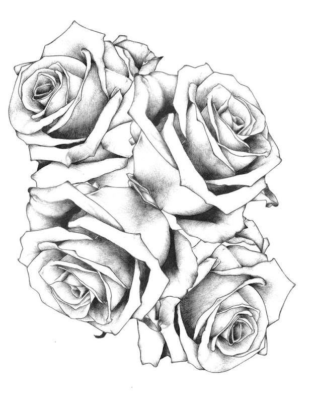Some pictures of rose tattoos designs title=