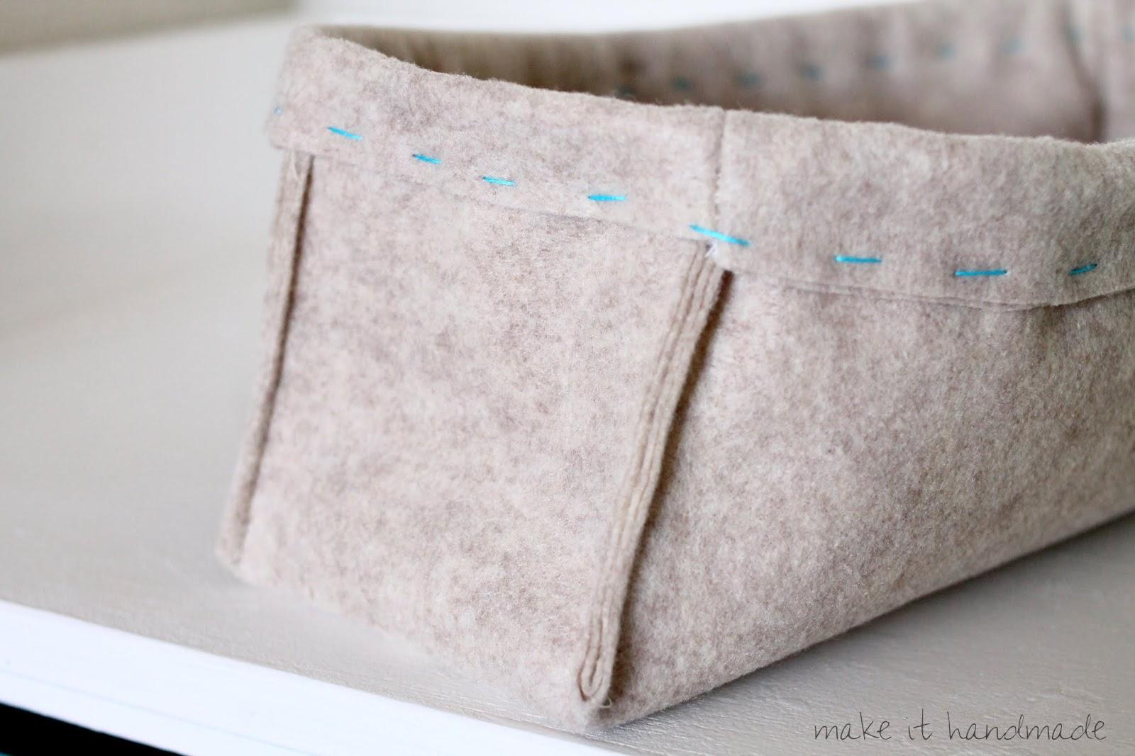 Handmade Baskets Tutorial : Make it handmade felt baskets in any size tutorial