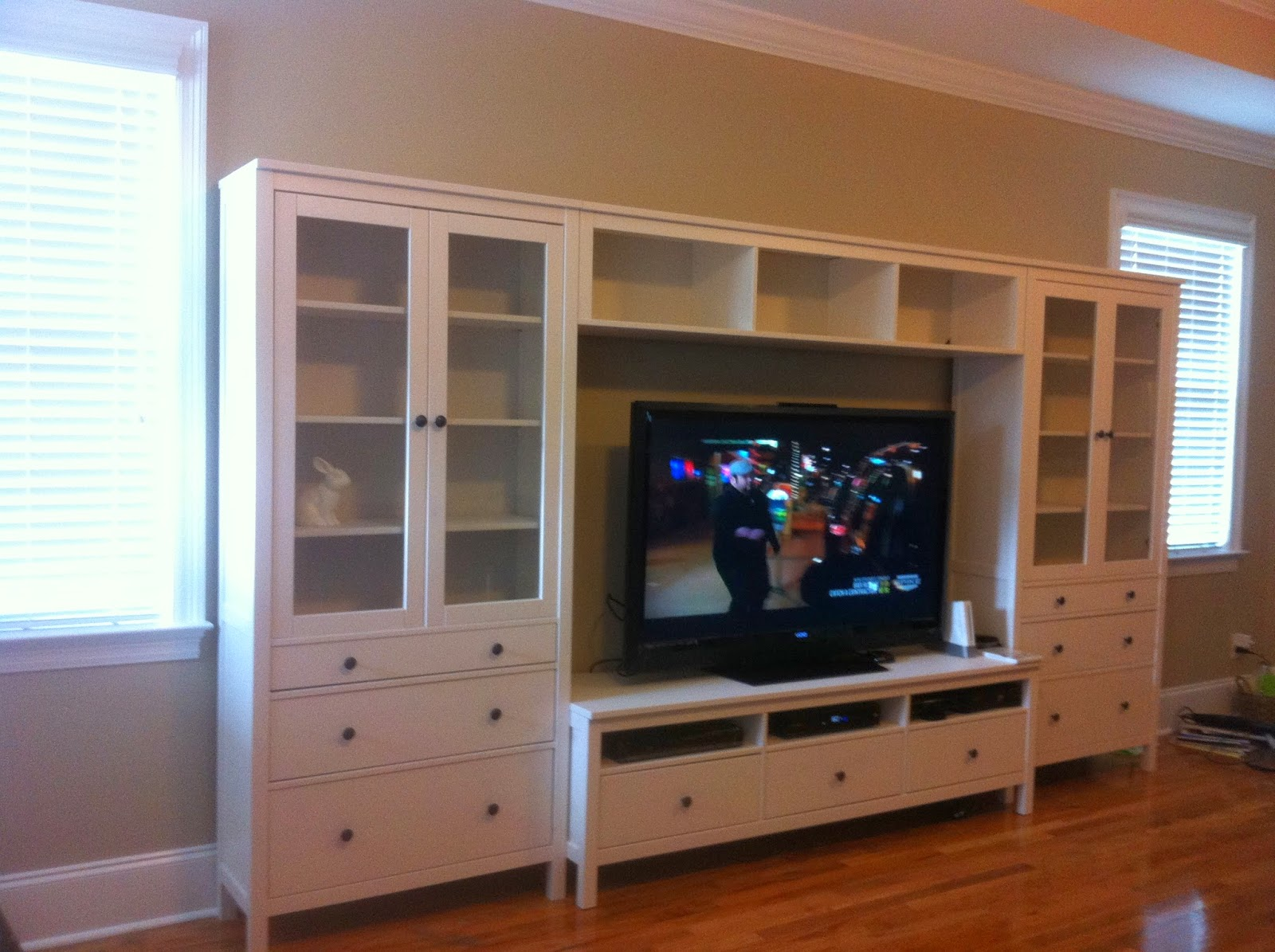 wife on a budget entertainment center upgrade. Black Bedroom Furniture Sets. Home Design Ideas
