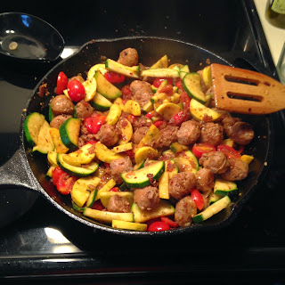 how to cook sausage slices in a pan