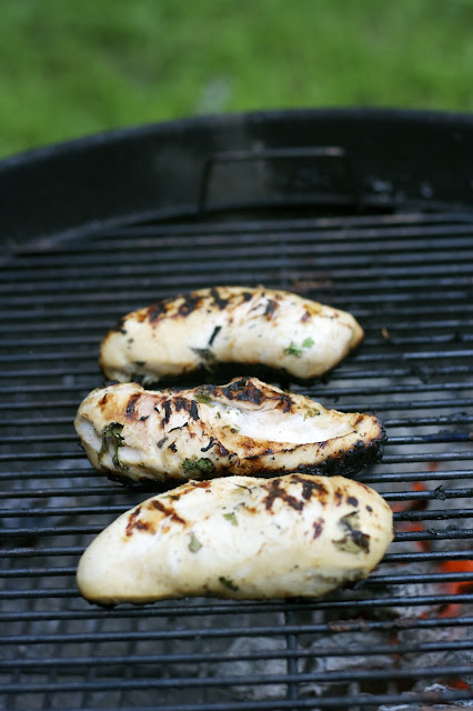 Grilled Tequila Chicken with Sauteed Peppers & Onions- simplelivingeating.com