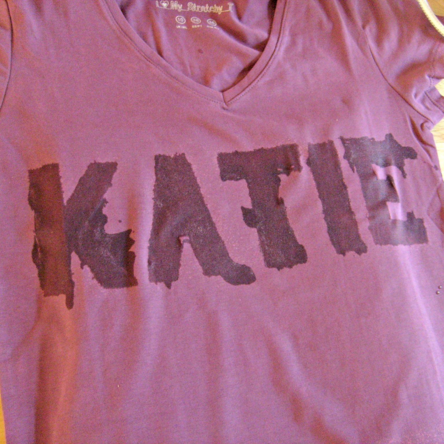 Katy clouds bleach stencil t shirt diy tutorial for How to bleach part of a shirt