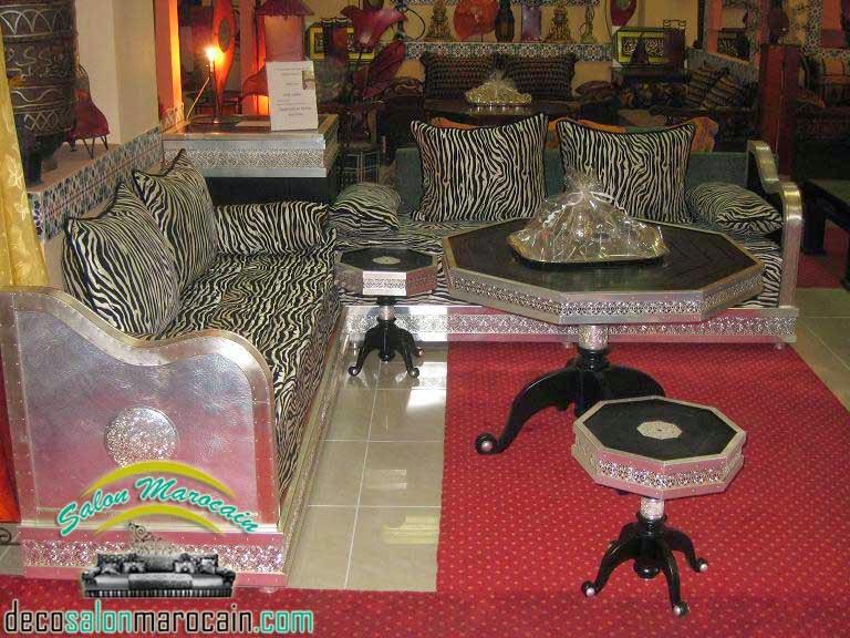 Salon marocain argenté top merveille