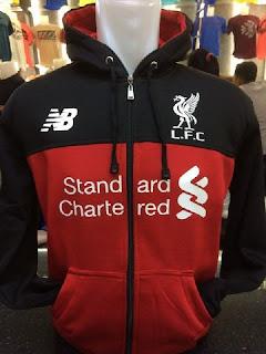 gambar photo Jaket hoodie Liverpool New Balance terbaru warna merah hitam 2015/2016 enkosa sport toko online terpercaya