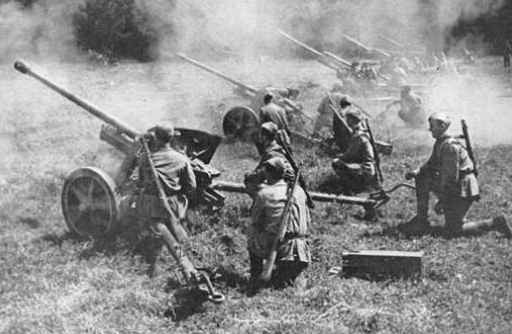 Image result for ww2 russian artillery