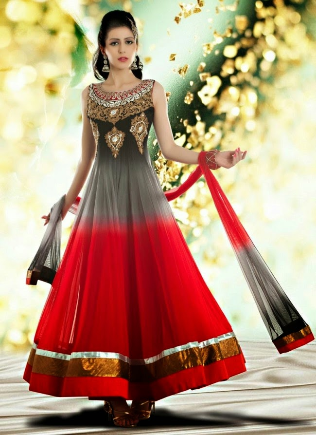 Fashion mag indian royal wedding bridal wear long for Dresses to wear to a indian wedding
