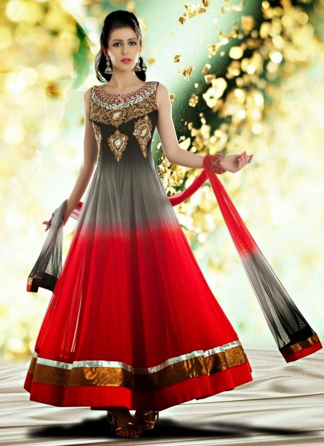 Indian royal wedding bridal wear long anarkali fancy frocks dresses