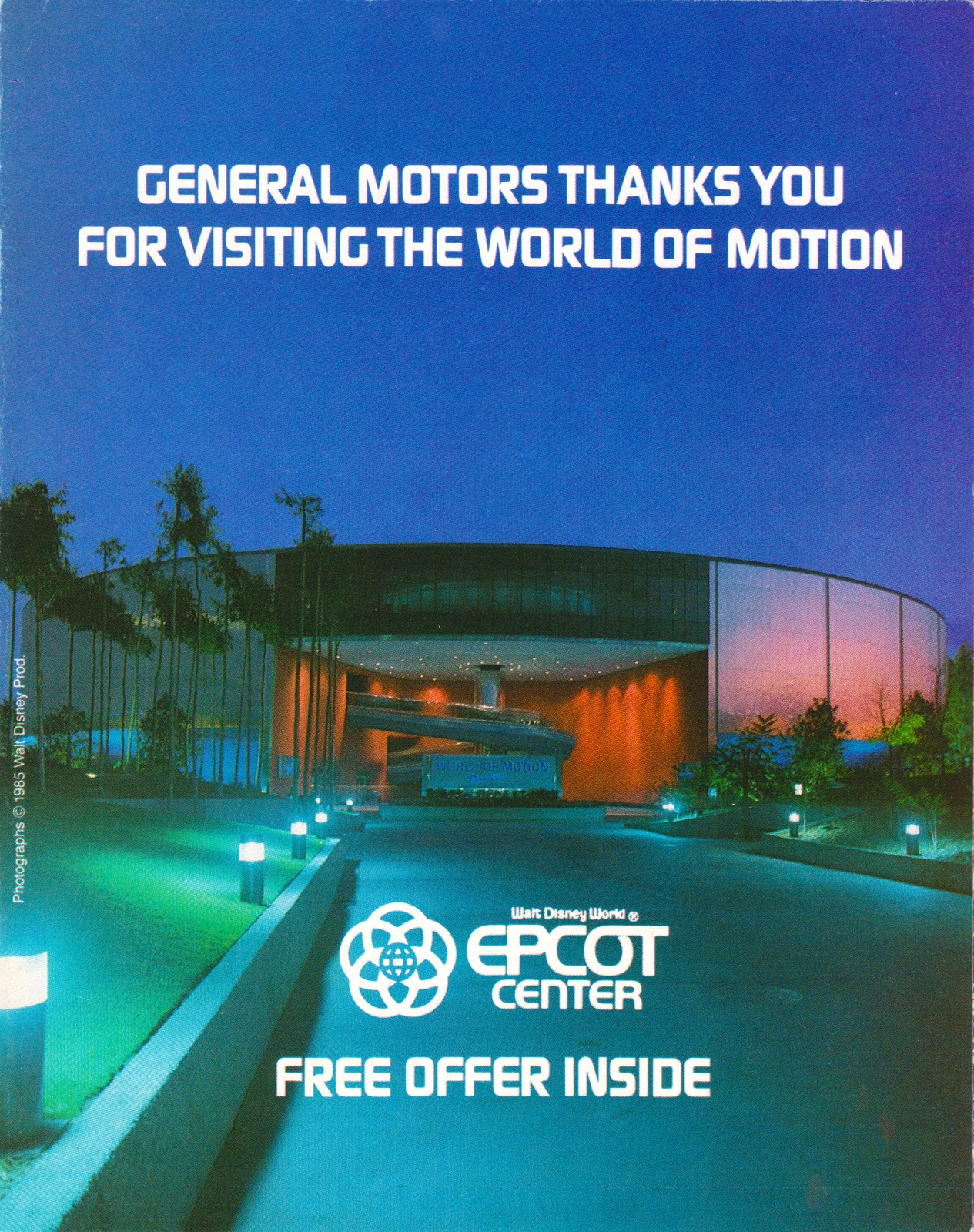 Practicalwdw Epcot S 30th World Of Motion Brochures