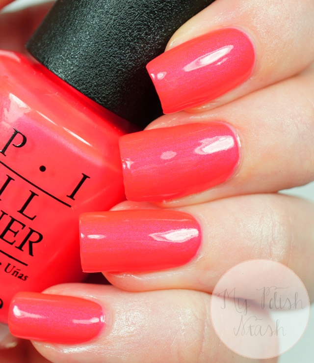 OPI Neon coral nail polish