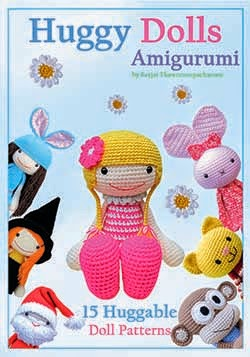 Huggy Dolls crochet pattern paperback book on Amazon