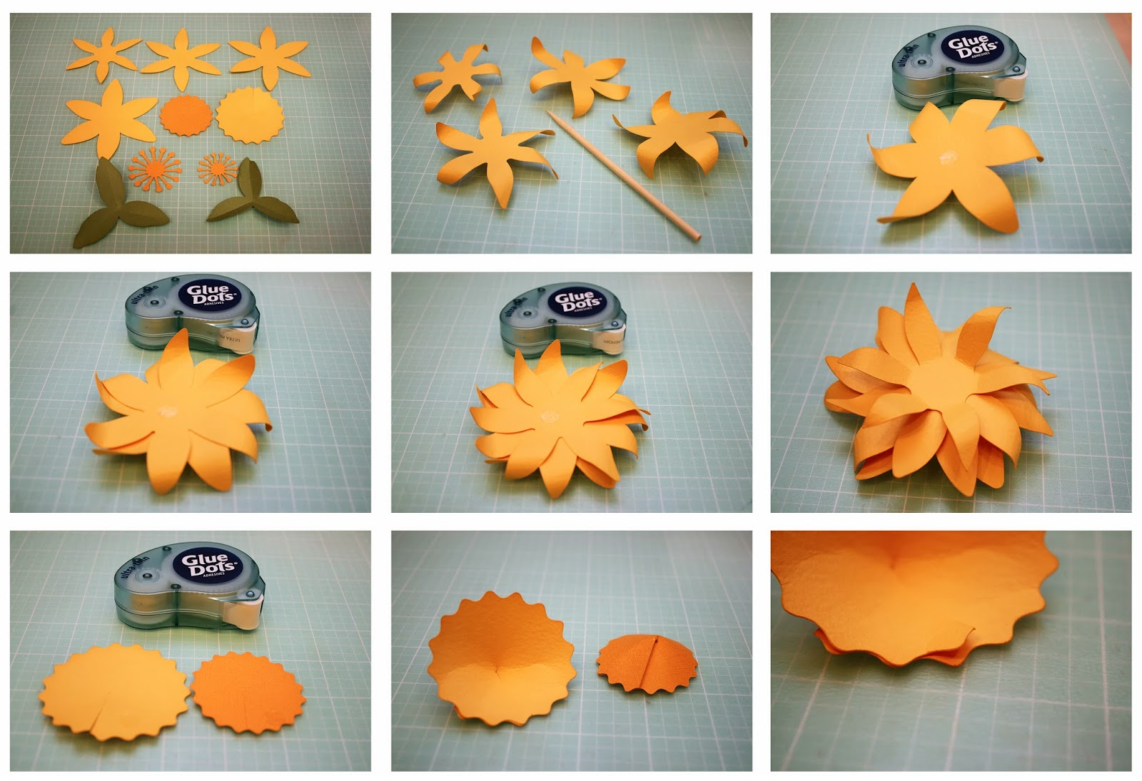 Bits of paper daffodil and cherry blossom 3d paper flowers daffodil and cherry blossom 3d paper flowers mightylinksfo