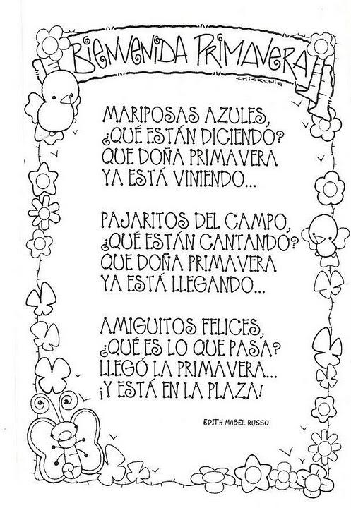 Poemas De Primavera Para Ninos