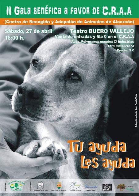 Vecinos por alcorc n ii gala ben fica a favor de los animales del centro de recogida y adopci n - Teatro en alcorcon ...