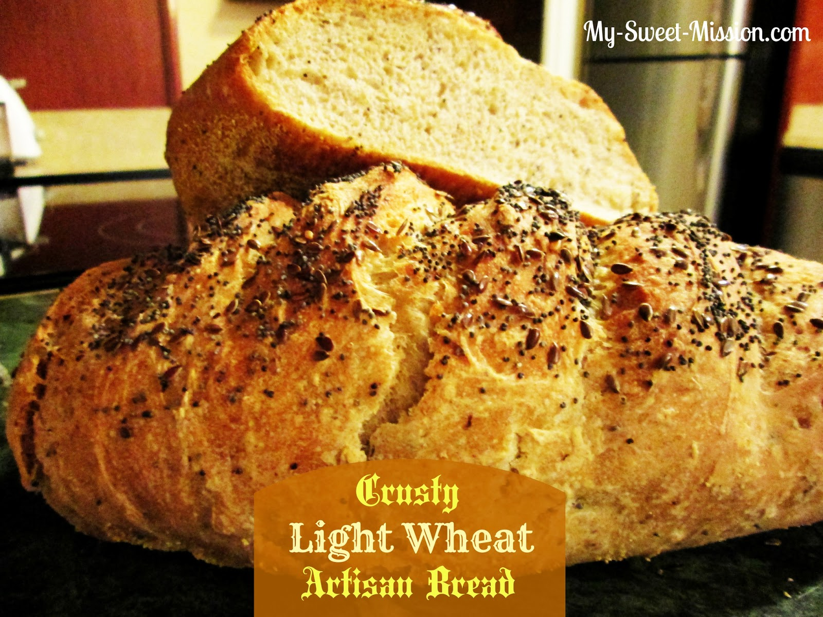 ... sprinkling of seeds gives this crusty artisan bread a hearty flavor