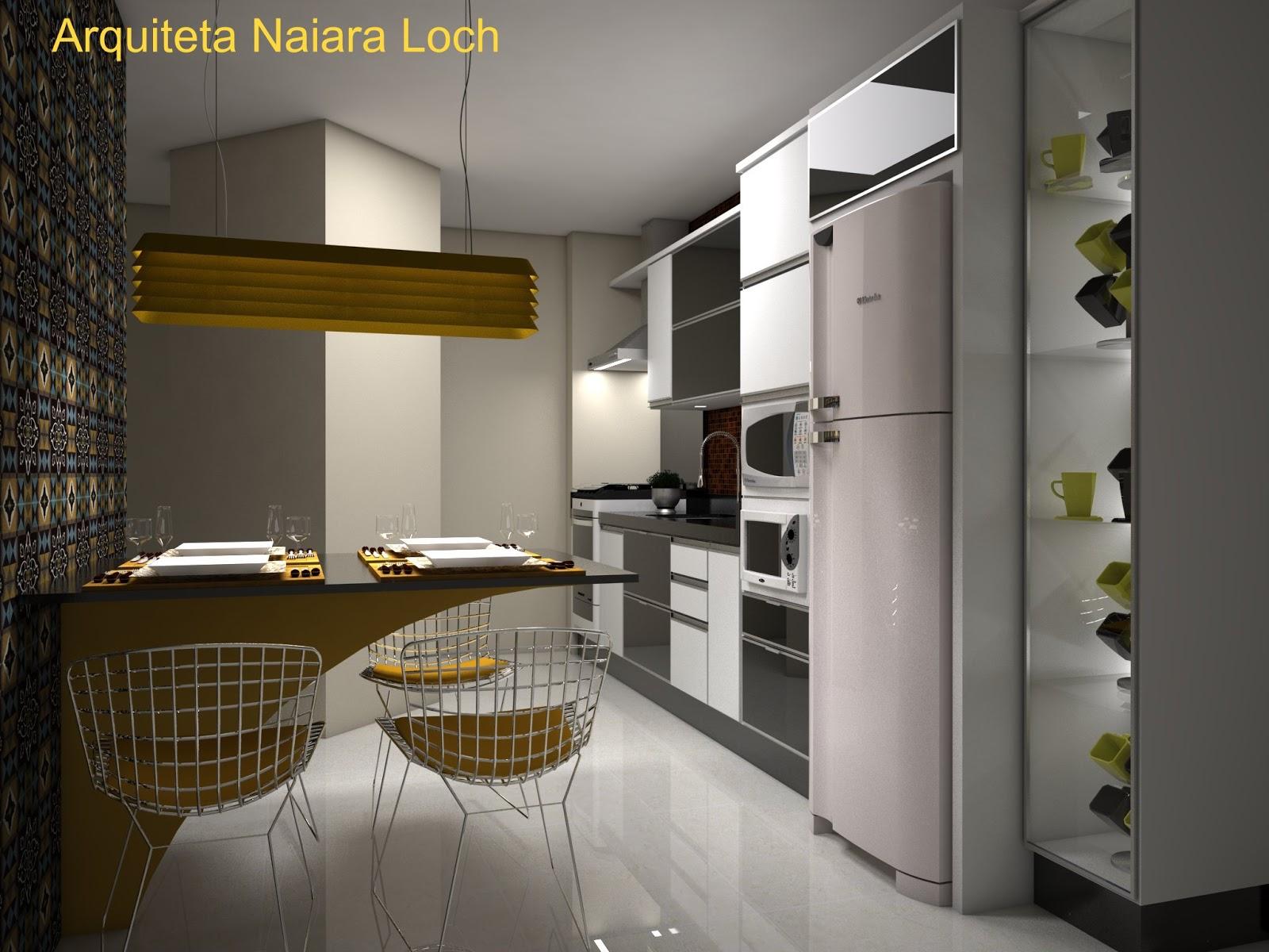 Cozinha branco   preto   amarelo Arquiteta Naiara Loch #AD911E 1600x1200 Banheiro Amarelo Com Preto
