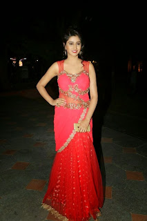 Shamili Transparent Red Saree Latest Unseen Pictureshoot (7).JPG
