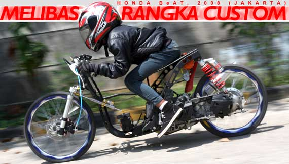 Modifikasi Motor Matic Drag Bike June