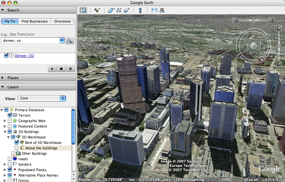 Google Maps 3D Free For Windows 7