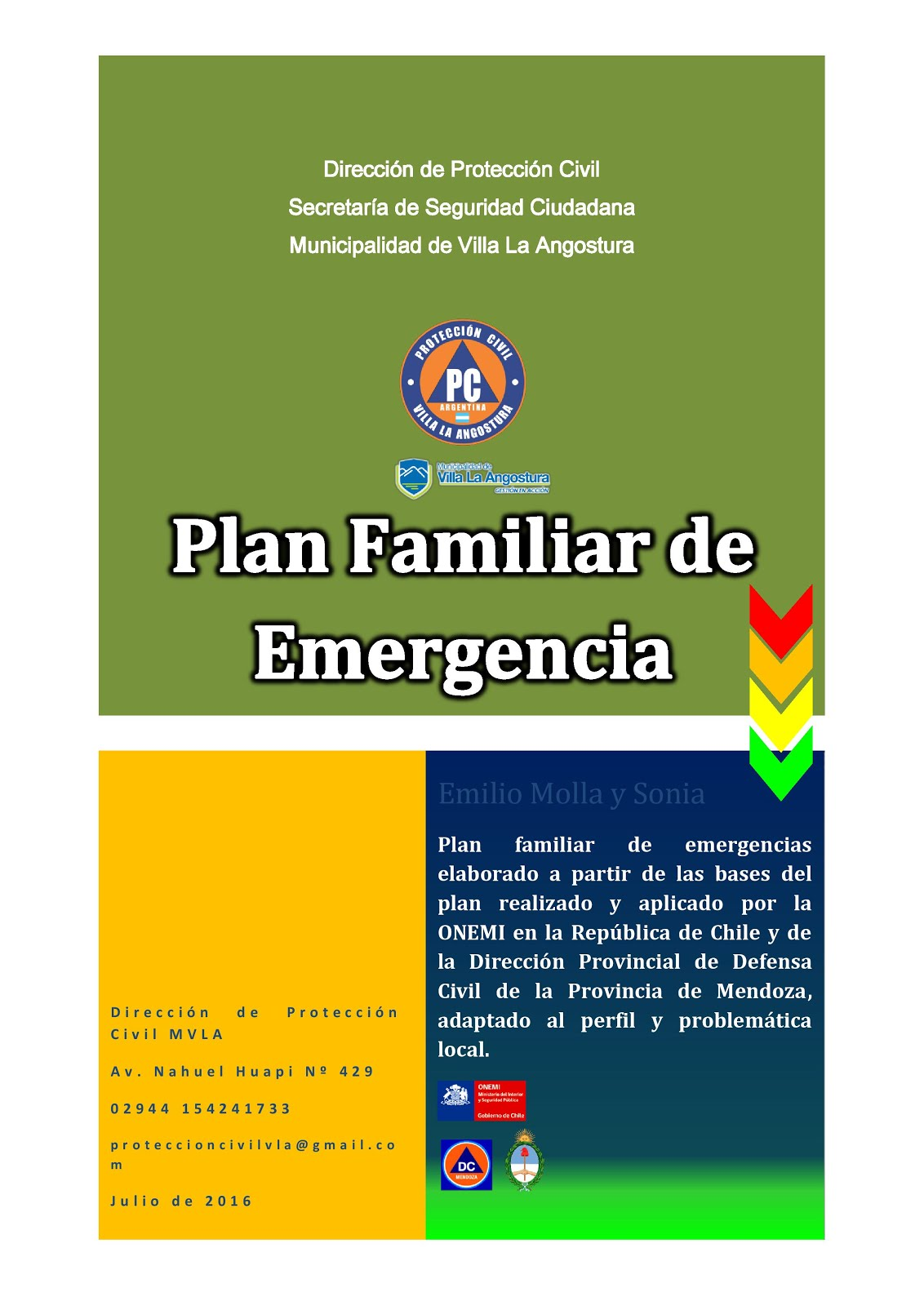 Plan Familiar ante Emergencias y Desastres