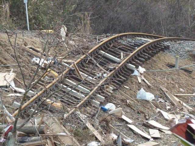 気仙沼線 津波の被害状況3 小金井駅~本吉駅間