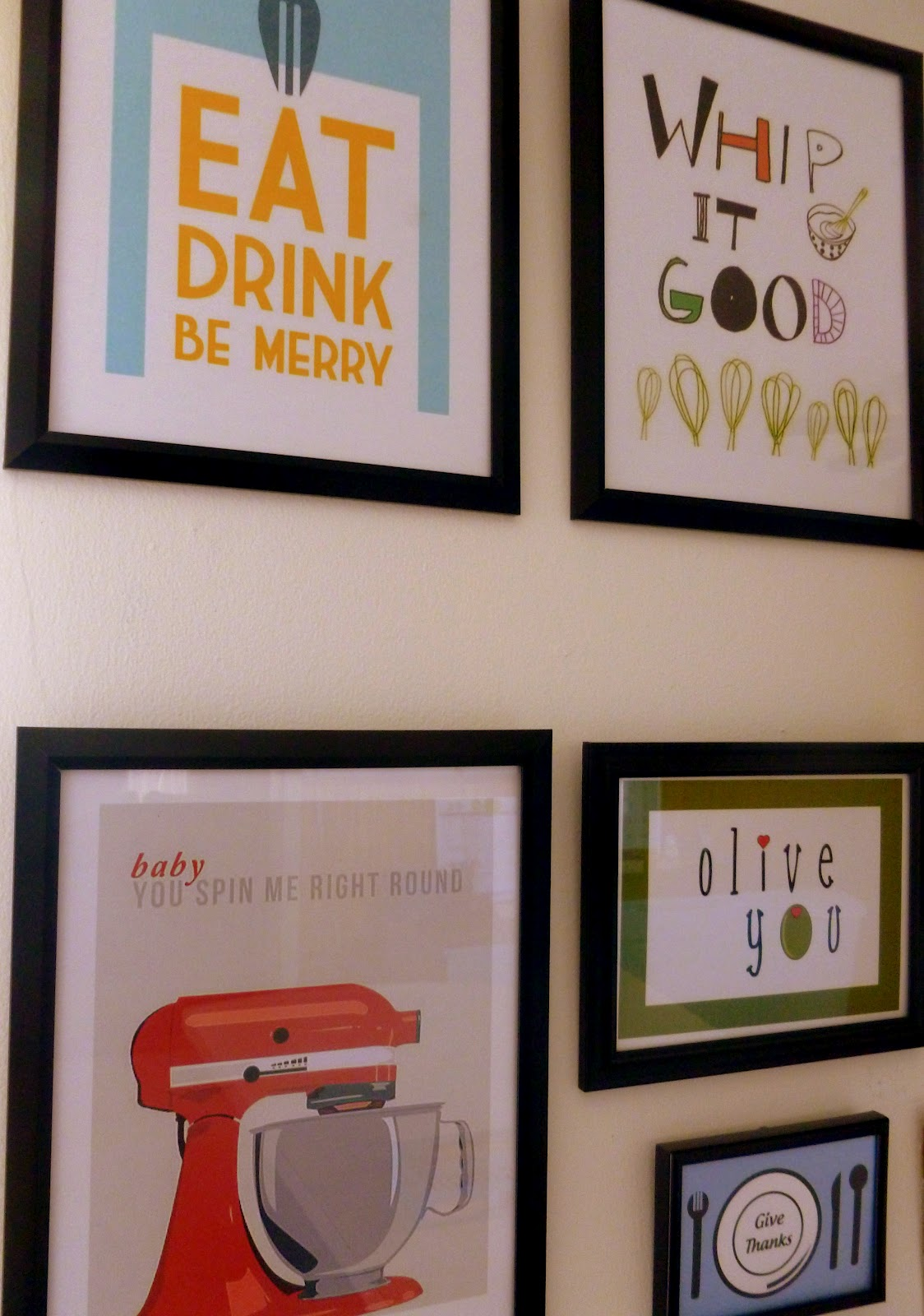 Adventures big and small pinterest inspired kitchen wall art for Kitchen wall art ideas