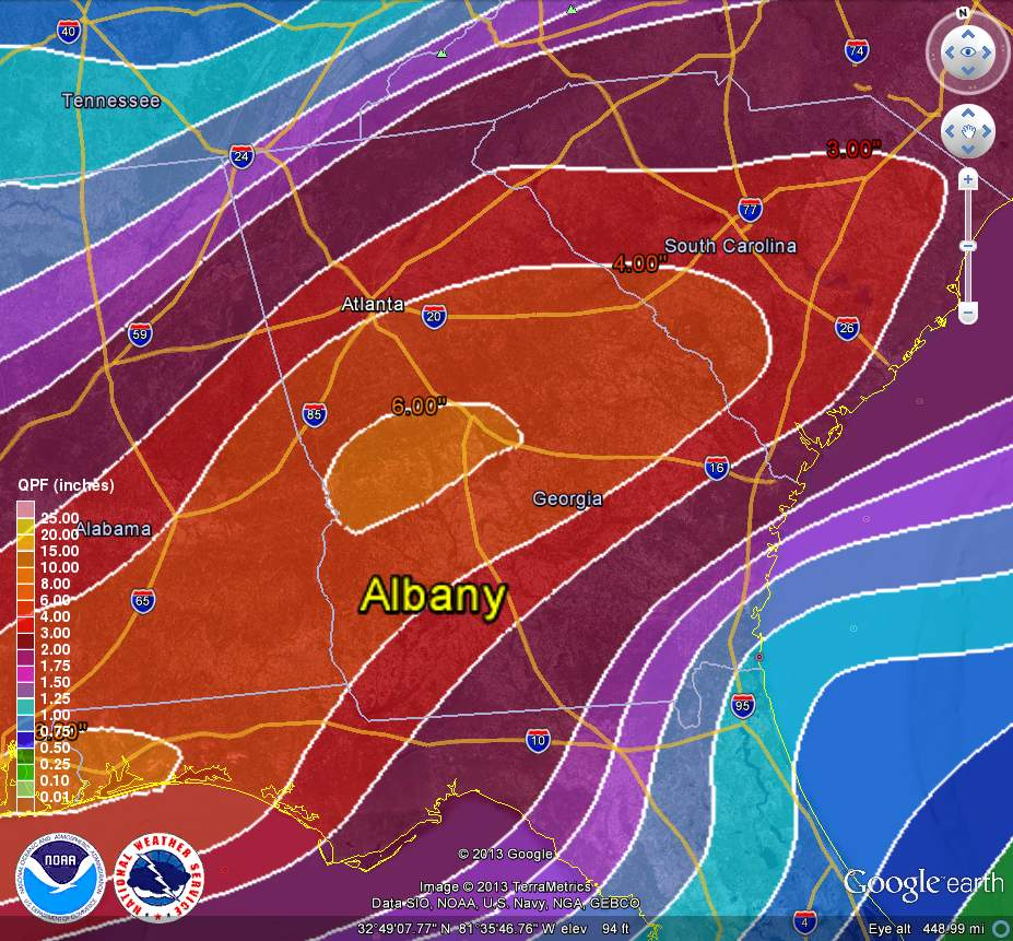 starting thursday night through next tuesday the area will see two separate storm systems that could bring heavy rains and there is some concern for not