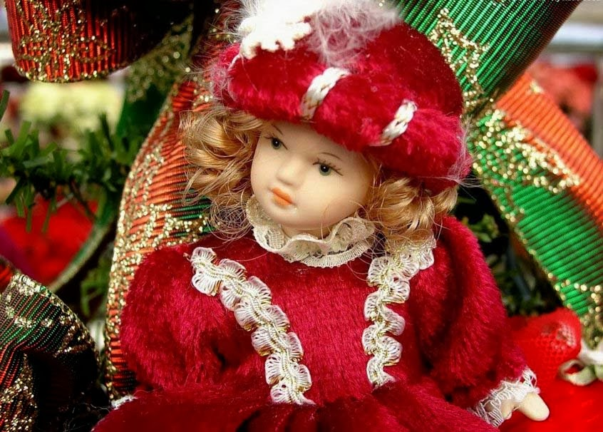 Cute Doll in Beautiful Dress good night
