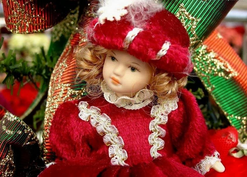 Cute Doll in Beautiful Dress good night