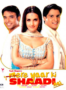 Poster Of Bollywood Movie Mere Yaar Ki Shaadi Hai (2002) 300MB Compressed Small Size Pc Movie Free Download worldfree4u.com
