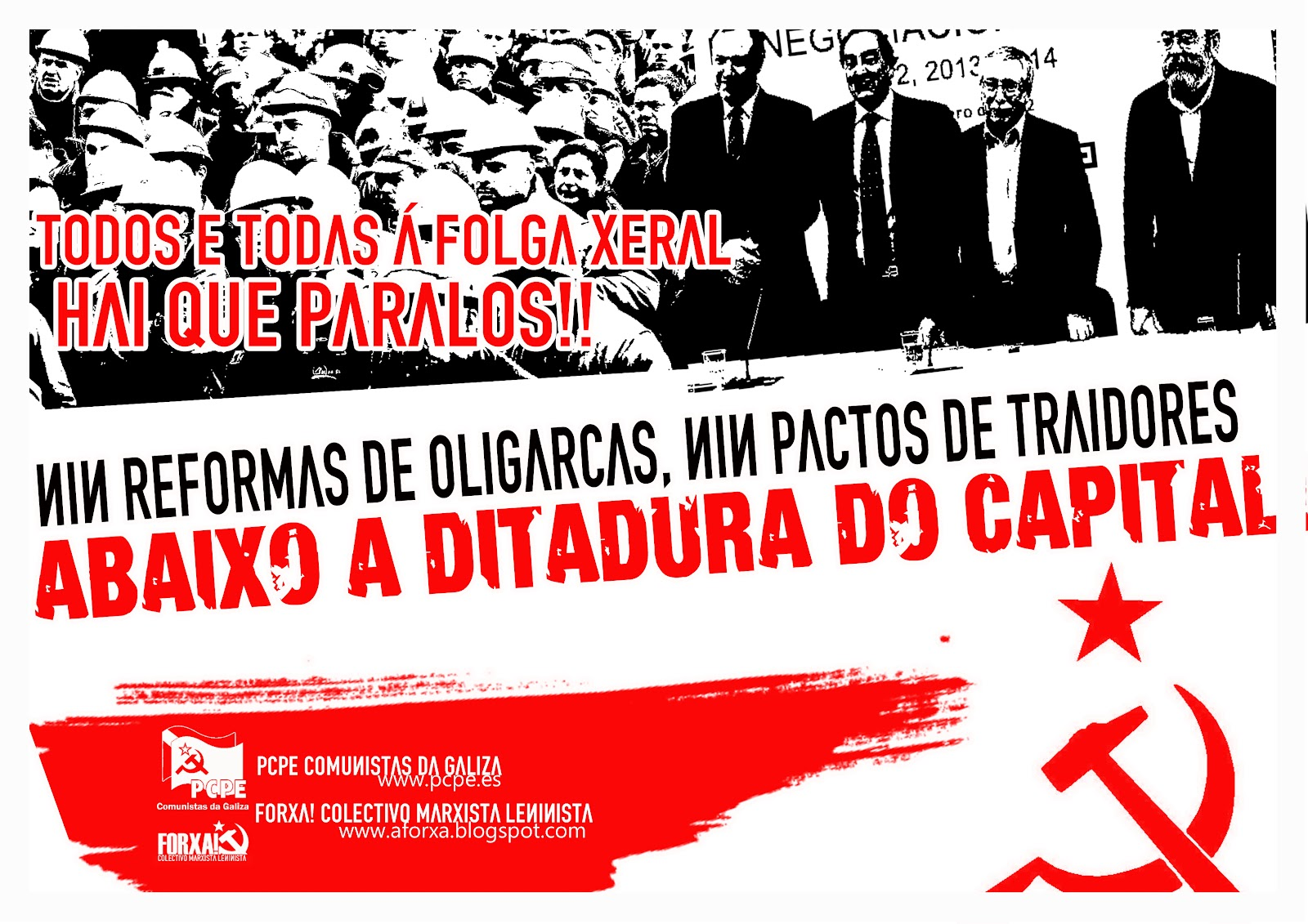 Comunicado conjunto Comunistas da Galiza (PCPE) y FORXA! Campa%C3%B1a+folgapcpe+forxaxx+correxido