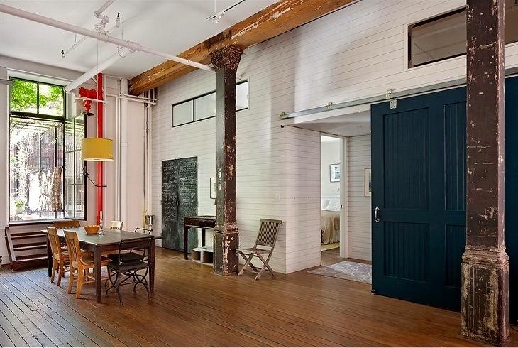 Estilo rustico loft rustico en nueva york for Loft rustico