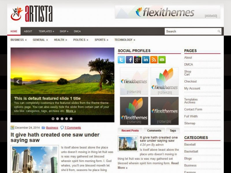 Artista - Free Wordpress Theme