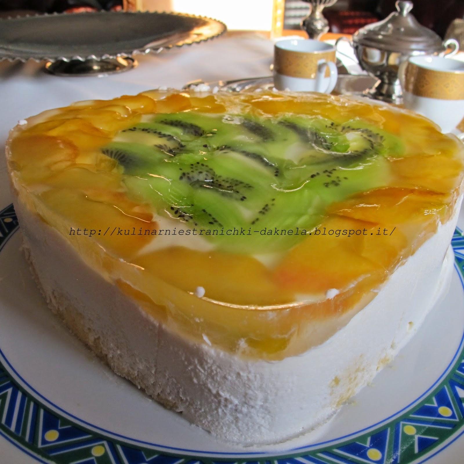 бисквит с персиками в сметанном желе рецепт