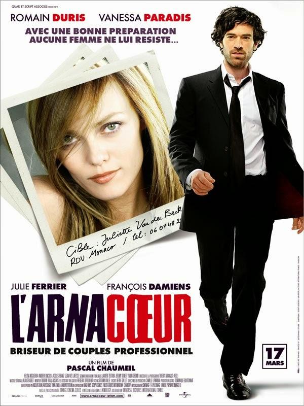 Affiche de L'Arnacoeur, avec Romain Duris et Vanessa Paradis