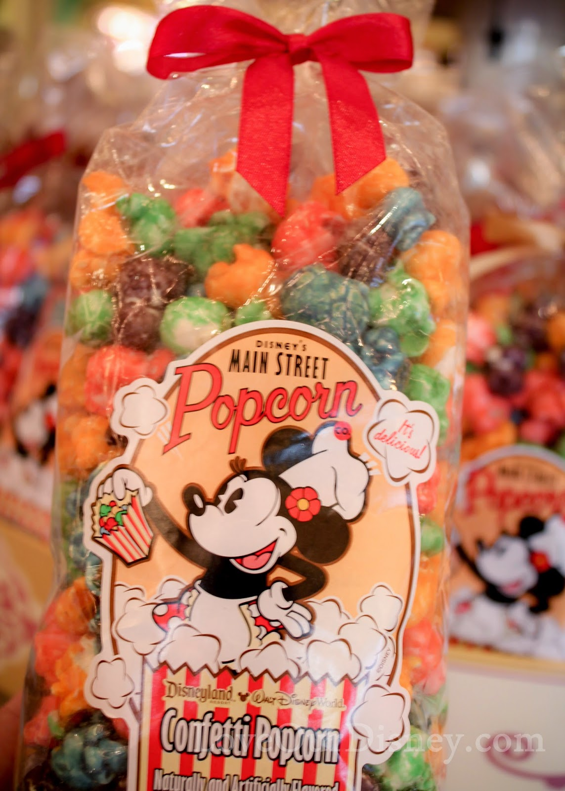 So many different types of popcorn at Disneyland's Candy Palace. LoveOurDisney.com