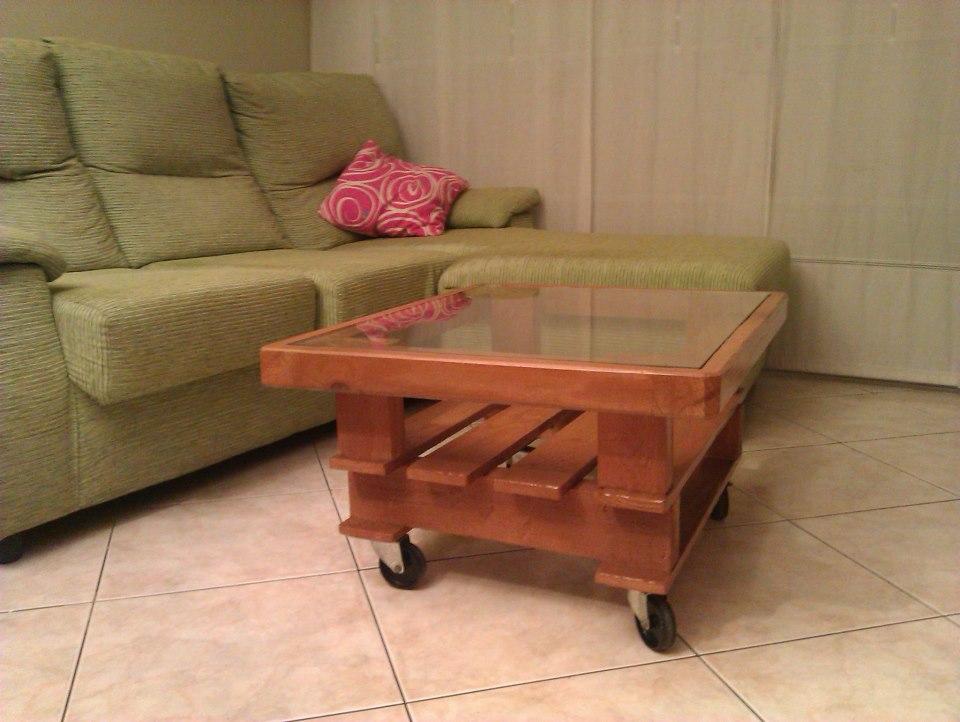 mueble palet: proyecto 1º mesa de salón tamaño medio
