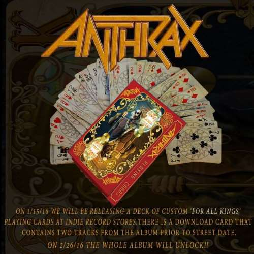 "ANTHRAX: Το ""For All Kings"" και σε τράπουλα"