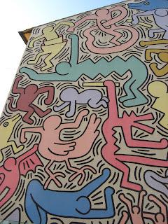 Keith Haring mural in Sant'Antonio Italia