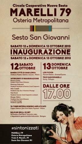 Cosa fare a Milano gratis nel weekend: musica live al Marelli79, inaugurazione sabato 12 e domenica 13 ottobre