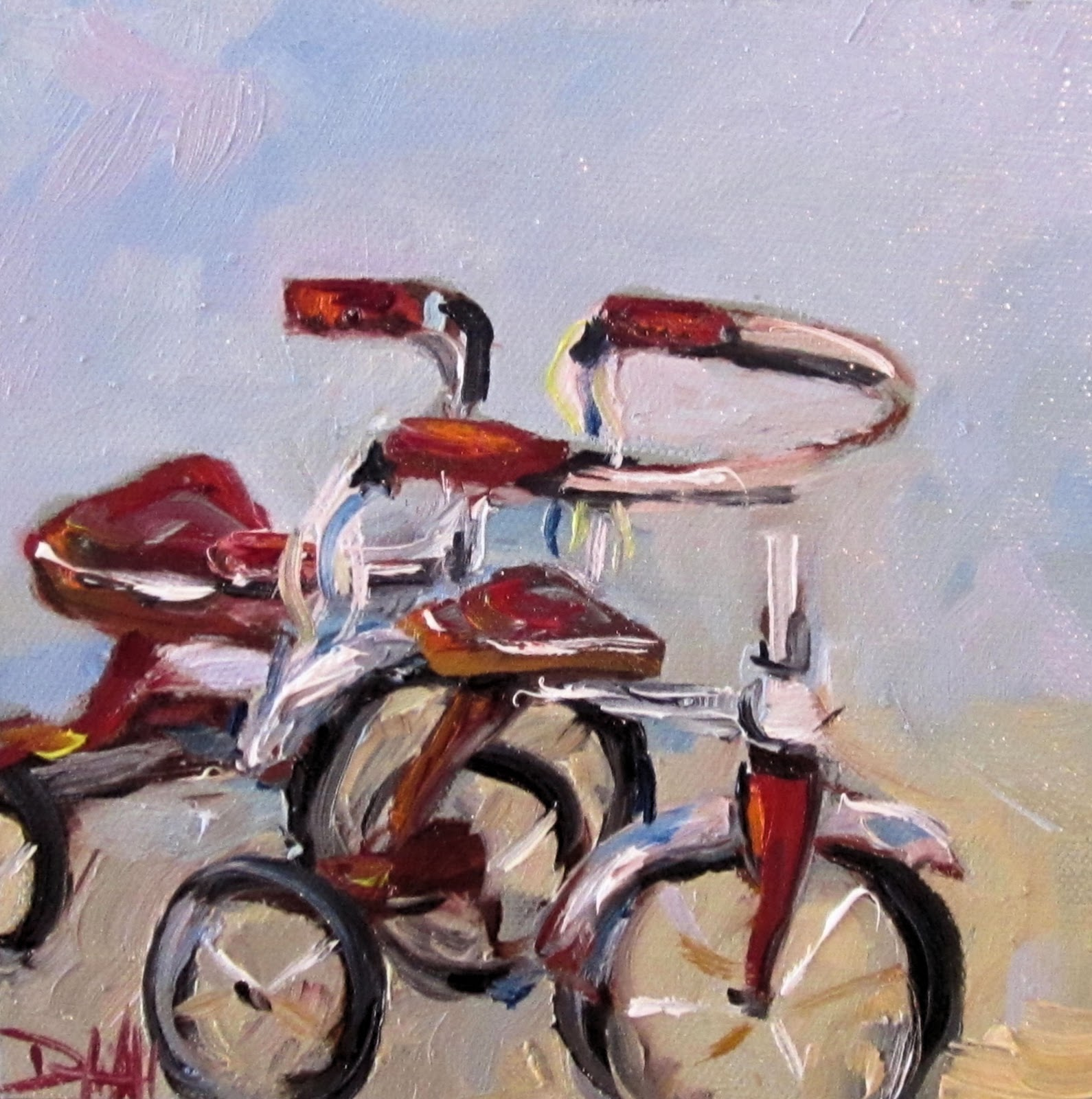 Painting of the day daily oil paintings by delilah start for How to start oil painting