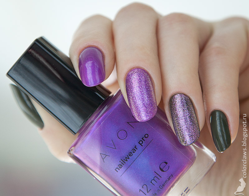 MakeUp Factory #510 + Avon Vivid Violet + Orly Pixie Powder