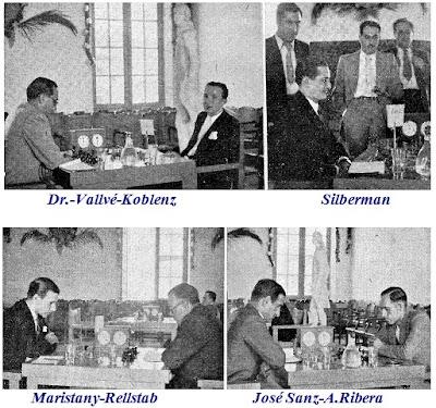 Las partidas de ajedrez Dr. Vallvé-Koblenz, Maristany-Rellstab, José Sanz-Ángel Ribera y Silberman
