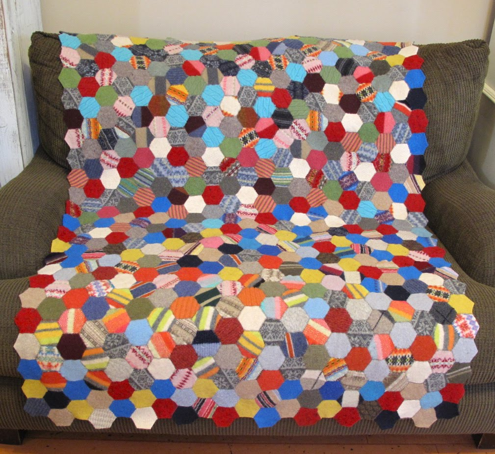 Resweater: It's Tutorial Tuesday! Make an easy, but awesome ... : woolen quilt - Adamdwight.com