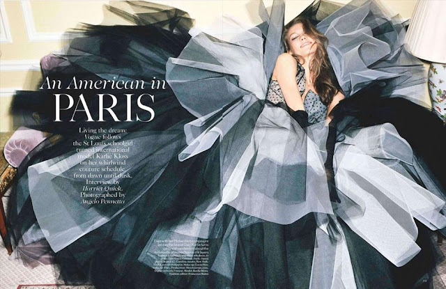 Karlie Kloss, a week in the life, Angelo Pennetta, Vogue UK, Francesca Burns