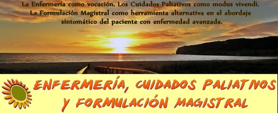 Enfermería, Cuidados Paliativos y Formulación Magistral